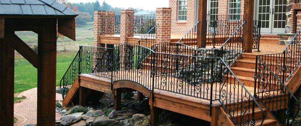 cregger construction home contractors exterior home improvement patio and deck build with outdoor stairs and railings installed
