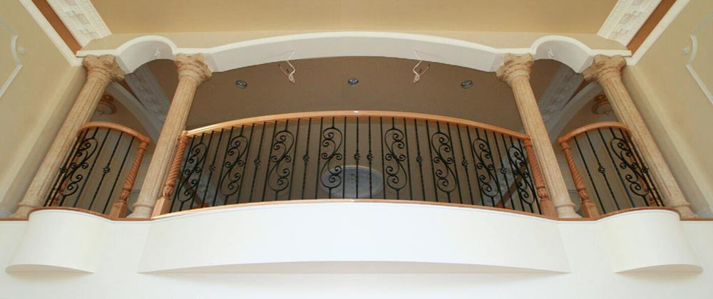 Interior railing installation by Cregger Construcion–stair railing contractors in Carroll County, Maryland.