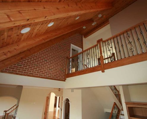 cregger construction home contractors up stairs interior railings and banister install