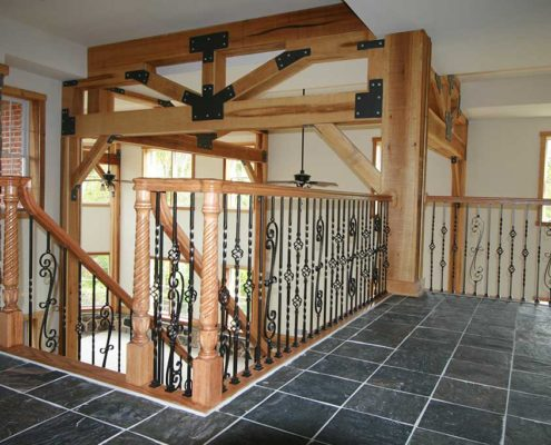 Interior Rail For Rustic Home