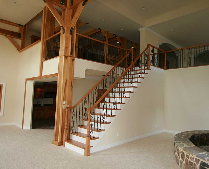 cregger construction home contractors home improvement and home remodeling of stairs and railings