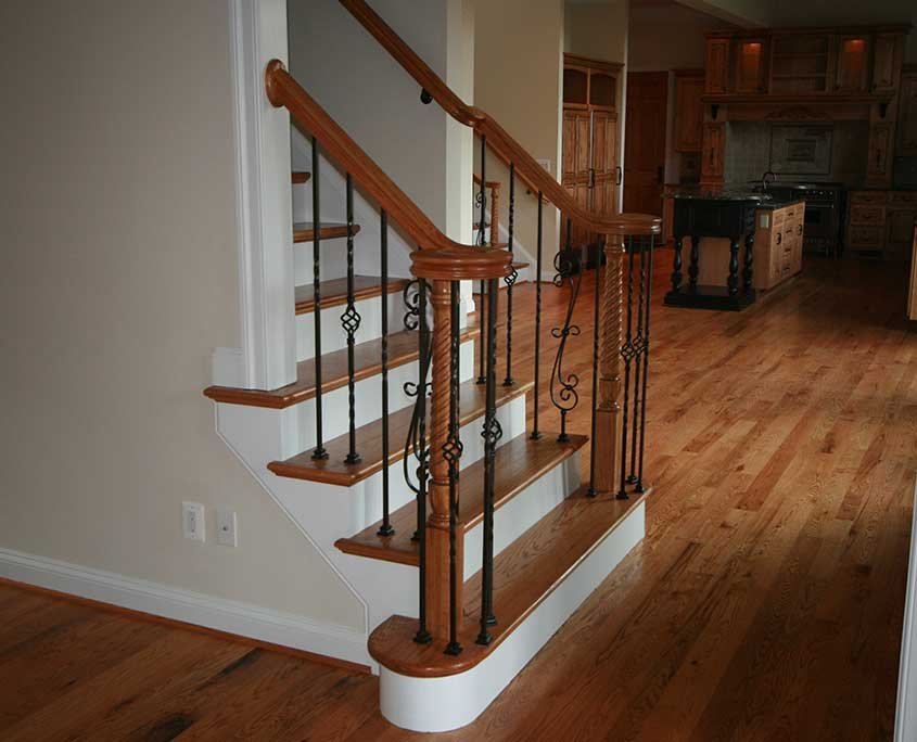Stair railing installation handrails stair rails - Interior stair railing contractors ...