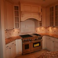 Large stove in kitchen