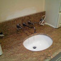 Sink in a vanity