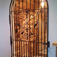 Iron door decorative design
