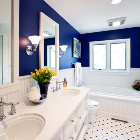 Bold and dramatic bathroom remodel