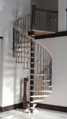 Spiraled staircase remodel