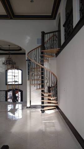 Spiraled staircase design