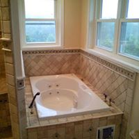 Bathroom tub remodel in master bath