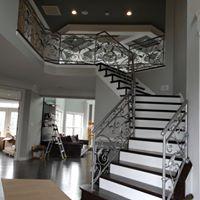 iron stair railing remodel