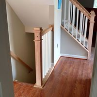 Wood railing construction