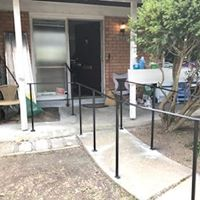 Outside walkway with railing