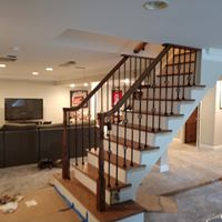 Stair contractors building a staircase