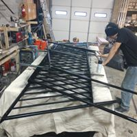 Stair contractors building an iron railing