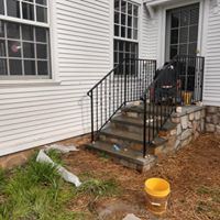 Back porch stair remodel
