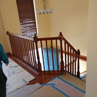 Railing contractors remodeling wooden railing