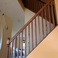 Wooden railing design