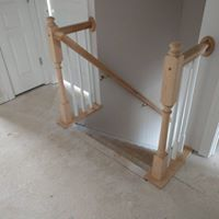 Home contractors remodeling railing