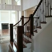 Wooden railing design