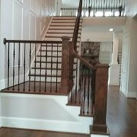 Staircase remodel with landing