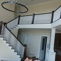 Wooden staircase remodel