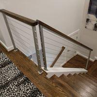Modern railing remodel