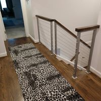 Stair railing remodel with modern design