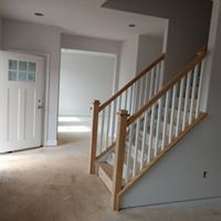 Traditional railing remodel on a staircase