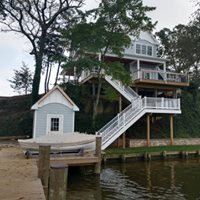 New deck addition with stairs and railing