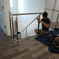 Stair contractors remodeling railing