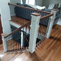 Iron rung staircase