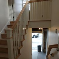 Wooden stair and rail remodel