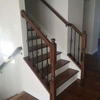 Iron rails on a staircase