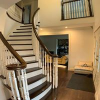 Large wooden staircase remodel