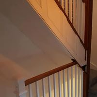 Stair railing refinishing