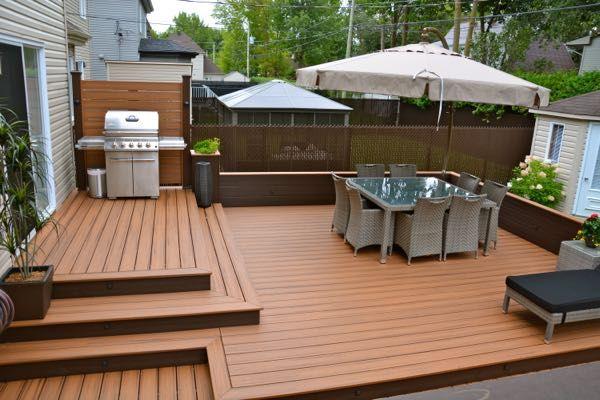 Deck addition with privacy fence