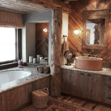 Log Industrial Bathroom Vanity