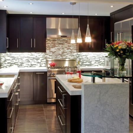 Small, modern kitchen remodel