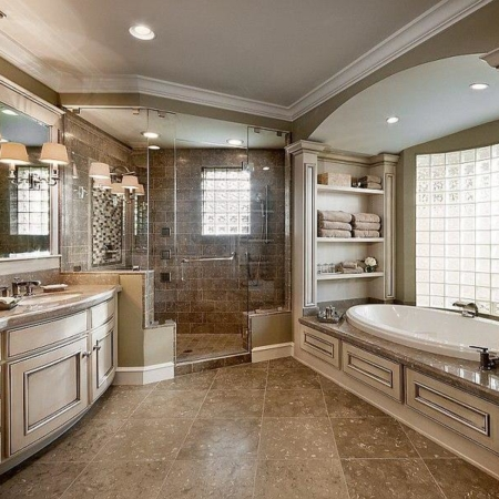 Custom master bathroom design