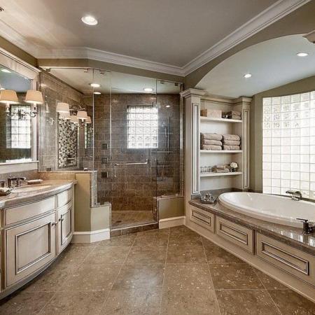 Custom master bathroom design