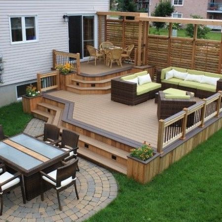 Large patio deck addition