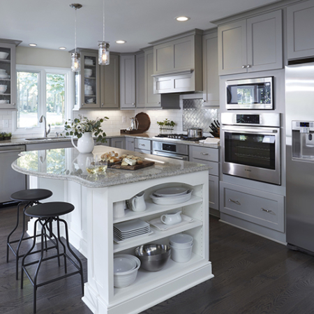 Grey kitchen remodeling