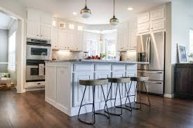 Kitchen remodel with wood floors