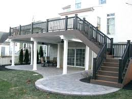 Deck addition with walkway