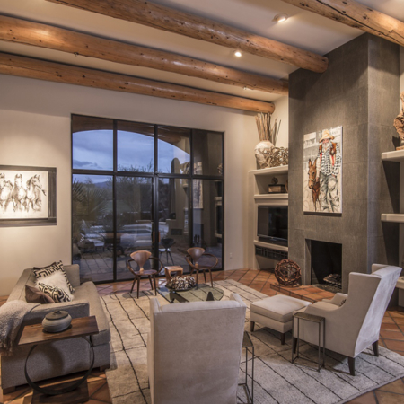 Southwestern decor in a home living space