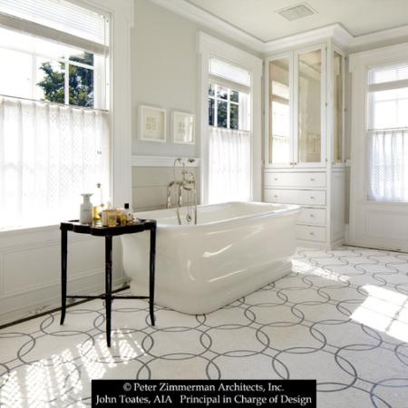 Clean and fresh bathroom design