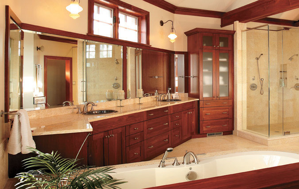 Large bathroom remodeling in Baltimore County.
