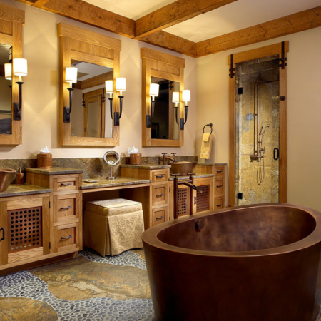 Copper Japanese Tub in a bathroom re-design.