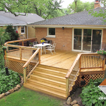 Wood deck and railing installation in Baltimore