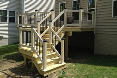 Deck contractor and railing installation